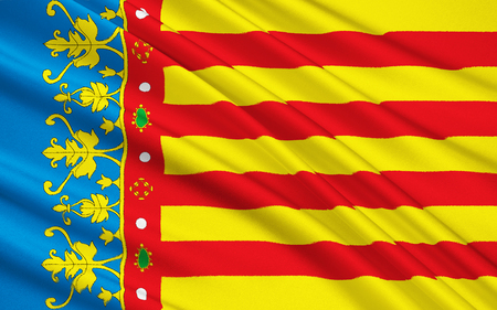 valencian: Flag of Valencian Community is an autonomous community of Spain.