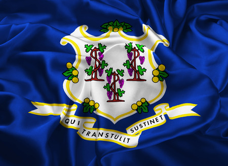 hartford: The national flag of the State of Connecticut, Hartford - United States Stock Photo