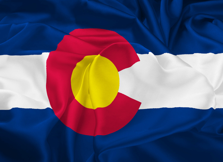 The national flag the State of Colorado, Denver - United States