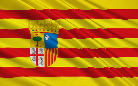 kingdom of spain: Flag of Aragon is an autonomous community in Spain, coextensive with the medieval Kingdom of Aragon
