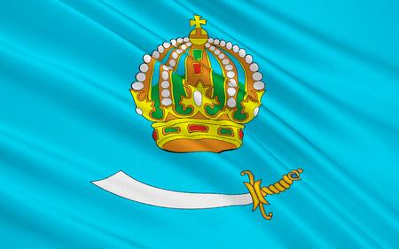 soumis: Le drapeau sujet de la Fédération de Russie - Oblast d'Astrakhan, District fédéral du Sud Banque d'images