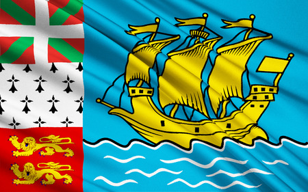 pierre: The national flag of Saint Pierre and Miquelon France Stock Photo