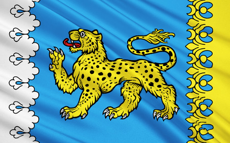 oblast: The flag subject of the Russian Federation - Pskov Oblast, Northwestern Federal District, Province