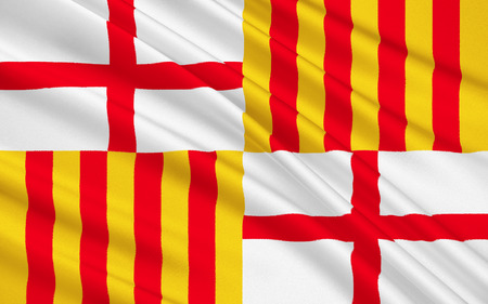 catalonia: Flag of Barcelona, Catalonia, Spain
