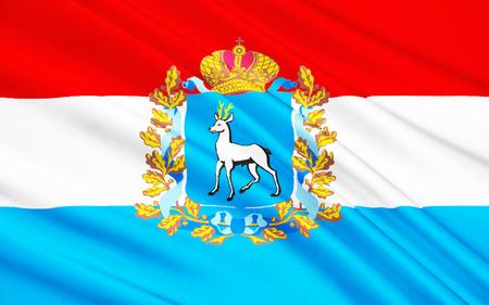 The flag subject of the Russian Federation - Samara Oblast, Volga Federal District