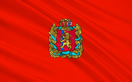 subject: The flag subject of the Russian Federation - Krasnoyarsk krai, the Siberian Federal District
