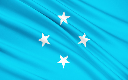 federated: The national flag of Federated States of Micronesia