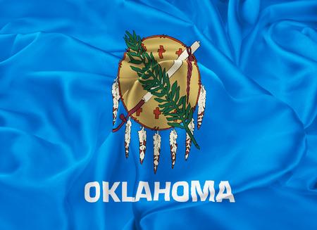 oklahoma: The national flag of the State of Oklahoma, Oklahoma City - United States