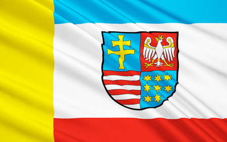 province: Flag of Swietokrzyskie Voivodeship, Swietokrzyskie Province or Holy Cross Province  in central Poland