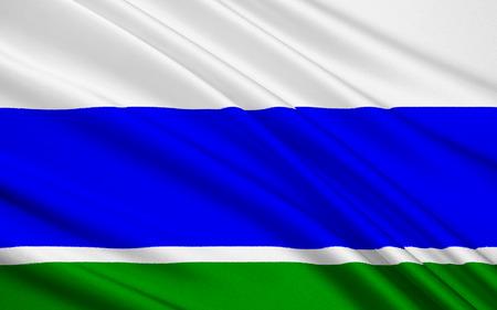 soumis: Le drapeau sujet de la Fédération de Russie - région de Sverdlovsk, Ekaterinburg, Ural District fédéral, l'ancienne province de Sibérie