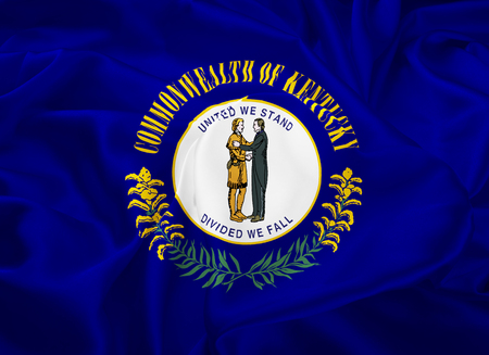 bluegrass: The national flag the State of Kentucky, Frankfort - United States