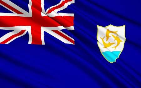 adopted: Flag of Anguilla, United Kingdom - Valley, adopted in 1990.