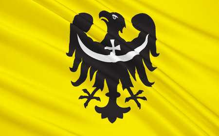 lower: Flag of Lower Silesian Voivodeship or Lower Silesia Province in Poland, Wroclaw