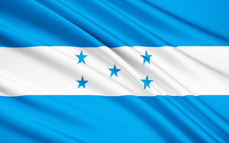 central america: Flag of Honduras - In 1823 Honduras joined the United Provinces of Central America and adopted their flag. The current design was adopted on 7th March 1866.