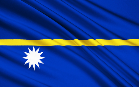 micronesia: The national flag of Nauru, Micronesia