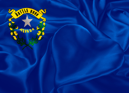 allegiance: The national flag of the State of Nevada, Carson City - United States