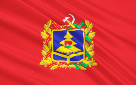 soumis: Le drapeau sujet de la F�d�ration de Russie - Bryansk Oblast, District f�d�ral central, la plaine d'Europe orientale