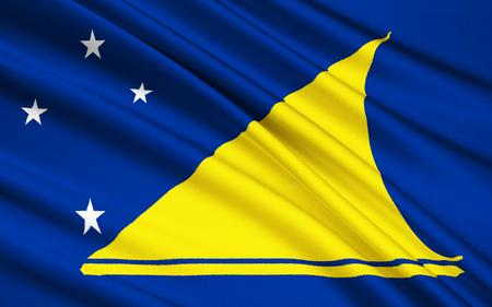 tokelau: The national flag of Tokelau New Zealand - Polynesia Stock Photo