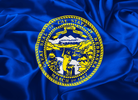 lincoln: The national flag of State of Nebraska, Lincoln - United States