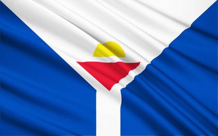 martin: The national flag of Saint Martin France - Marigot Stock Photo
