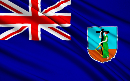 virgin islands: The national flag of Virgin Islands, United Kingdom - Road Town Stock Photo