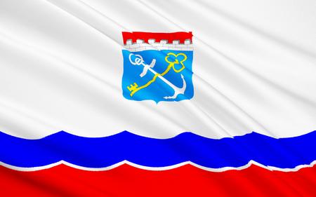 soumis: Le drapeau sujet de la Fédération de Russie - Leningrad Oblast, Saint-Pétersbourg, du Nord-Ouest District fédéral Banque d'images