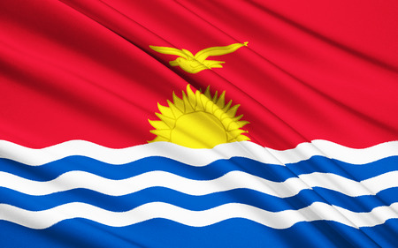 australasia: The national flag of Kiribati, Micronesia Stock Photo