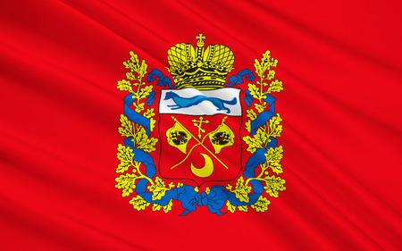 oblast: The flag subject of the Russian Federation - Orenburg region, Volga Federal District