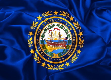 concord: The national flag of the State of New Hampshire, Concord - United States Stock Photo