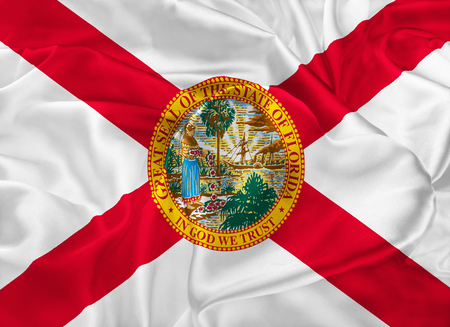 tallahassee: The national flag of the State of Florida, Tallahassee, FL - United States