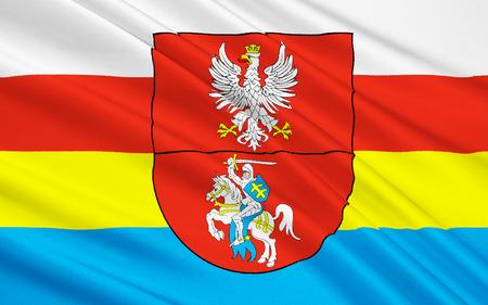 northeastern: Flag of Podlaskie Voivodeship in northeastern Poland