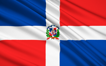 dominican: The national and state flag of the Dominican Republic.