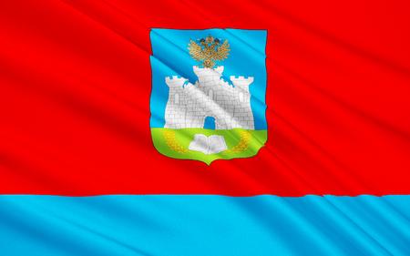soumis: Le drapeau sujet de la F�d�ration de Russie - Oblast d'Orel, District f�d�ral central Banque d'images