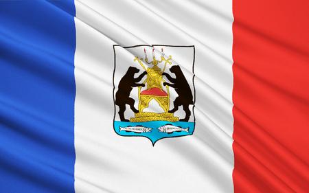 soumis: Le drapeau sujet de la Fédération de Russie - région de Novgorod, Veliky Novgorod, du Nord-Ouest District fédéral Banque d'images