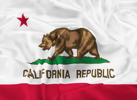 sierra nevada: The national flag of the State of California, Sacramento - United States Stock Photo