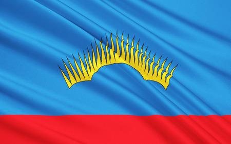 soumis: Le drapeau sujet de la Fédération de Russie - Mourmansk Oblast, District Fédéral du Nord