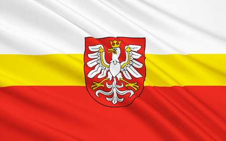 Flag of Lesser Poland Voivodeship or Maopolska Province in southern Poland