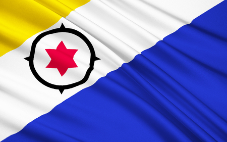 bonaire: The national flag of Bonaire, St. Eustatius and Saba (Caribbean Netherlands)