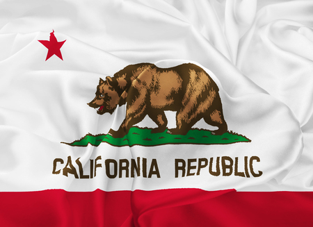 The national flag of the State of California, Sacramento - United States Stock Photo