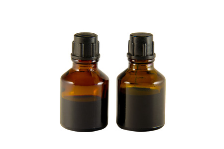 iodine: Two bottles of iodine and brilliant green isolated on white background