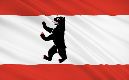 populated: Flag of Berlin - capital of Germany, the largest and most populated city in Germany.