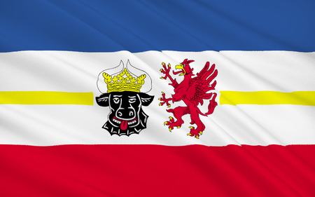 nationalist: Flag of Mecklenburg-Western Pomerania is a federated state in northern Germany. The capital city is Schwerin.