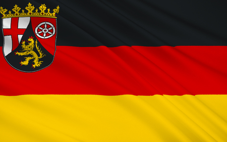 deutsch: Flag of Rhineland-Palatinate - the land of Germany. Capital - the city of Mainz.