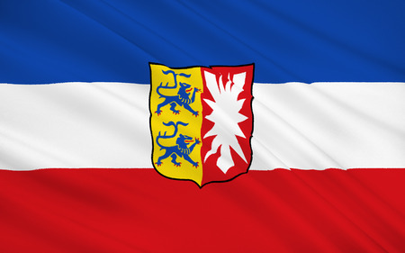 notable: Flag of Schleswig-Holstein is the northernmost of the 16 states of Germany. Its capital city is Kiel; other notable cities are Lubeck and Flensburg.