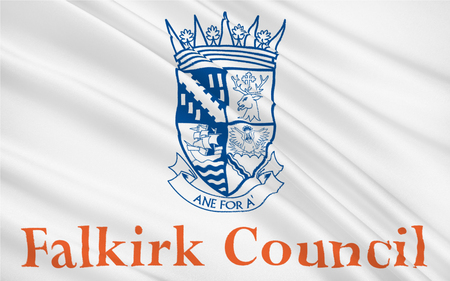 orientated: Flag of Falkirk is one of 32 unitary authority council areas of Scotland.