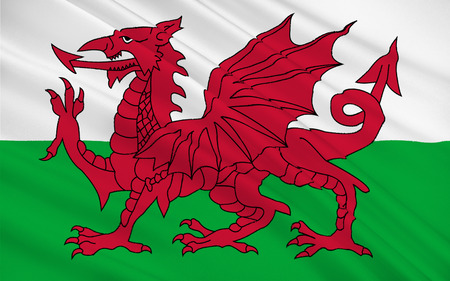 orientated: Flag of Wales is a country that is part of the United Kingdom and the island of Great Britain