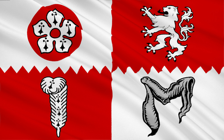 landlocked: Flag of Leicestershire is a landlocked county in the English Midlands.