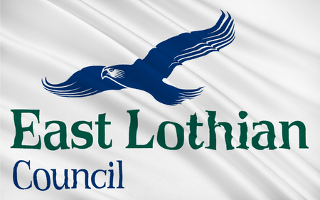 lothian: Flag of East Lothian council of Scotland, United Kingdom of Great Britain