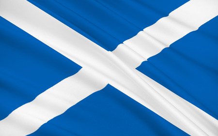 orientated: Flag of Scotland, United Kingdom of Great Britain and Northern Ireland