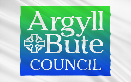 orientated: Flag of Argyll and Bute is both one of 32 unitary authority council areas; and a Lieutenancy area in Scotland